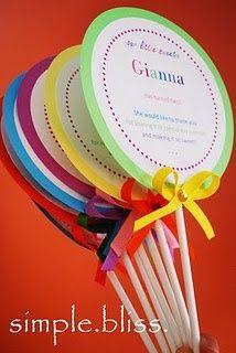 lollipop invitations - diy really cute idea for a birthday party.