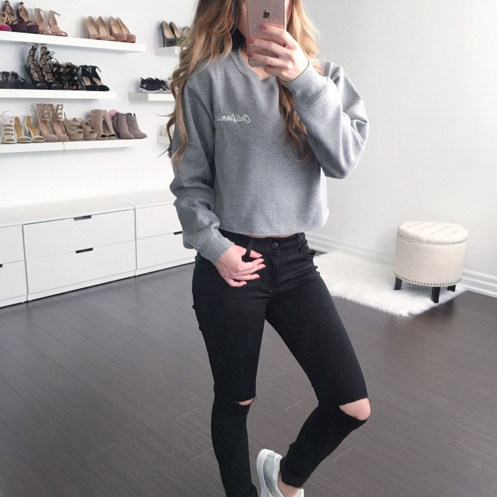 Cali Cropped Sweater Casual Outfits For Teens Hipster Outfits