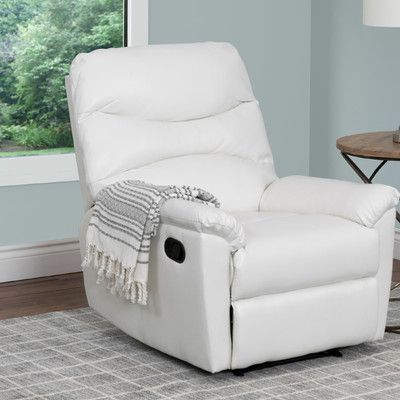 Red Barrel Studio Sexton Faux Leather Manual Recliner With Massage Furniture Recliner Baroque Furniture