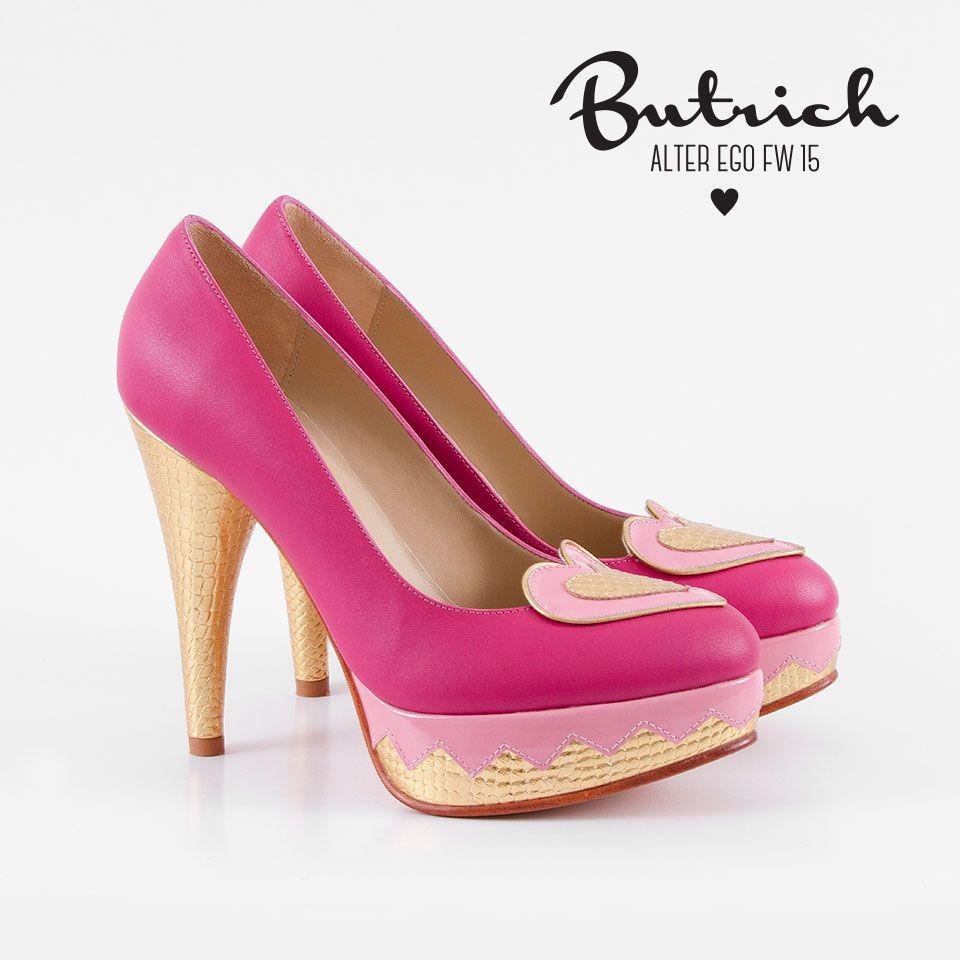 <3 zapato *Greta* Fresa <3 Alter Ego / Butrich <3 #corazón #corazones #zapatos #shoe #heart