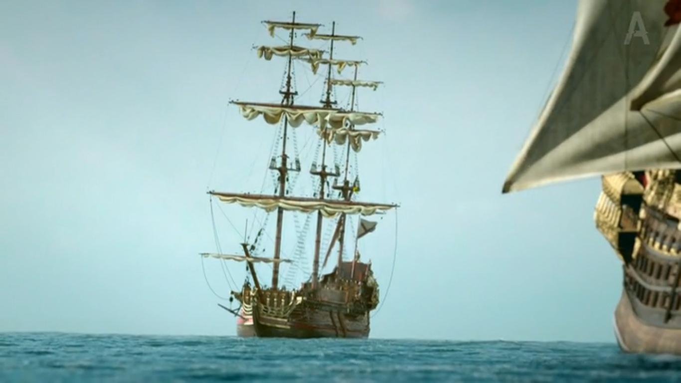 Spanish Man of War's starboard side with Walrus under ...
