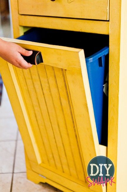 Diy Tilt Out Trash Bin Diy Storage Projects Diy Storage