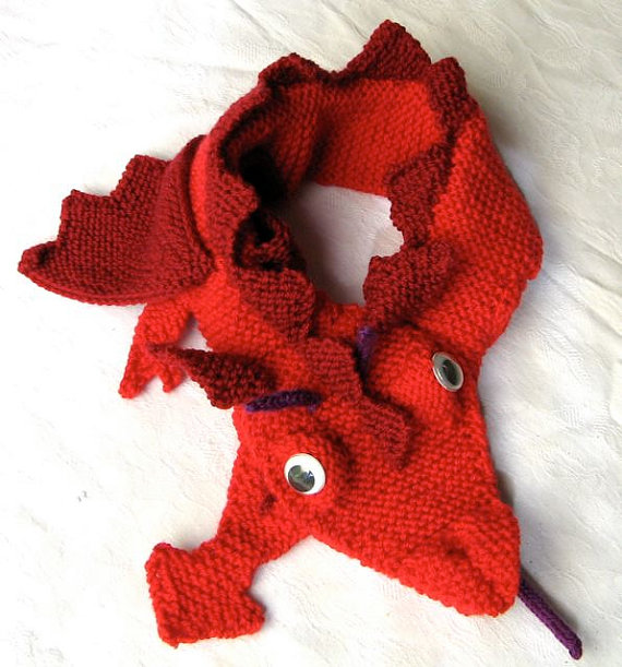 Dragon Scarf Knitting Pattern Pdf File By Automatic Download
