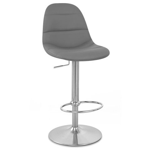 Admirable Ferrero Brushed Steel Bar Stool Grey Ideas For The House Unemploymentrelief Wooden Chair Designs For Living Room Unemploymentrelieforg