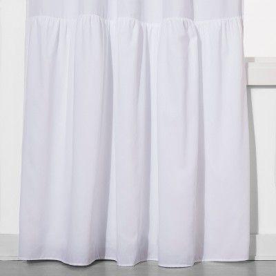 Ruffle Blackout Curtain Panel White 42 X63 Pillowfort Cool