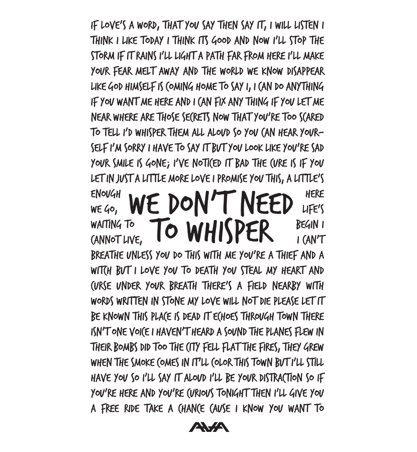 Lyric black lyrics : Whisper Lyrics District T-Shirt Black Ink | Quotes | Pinterest ...