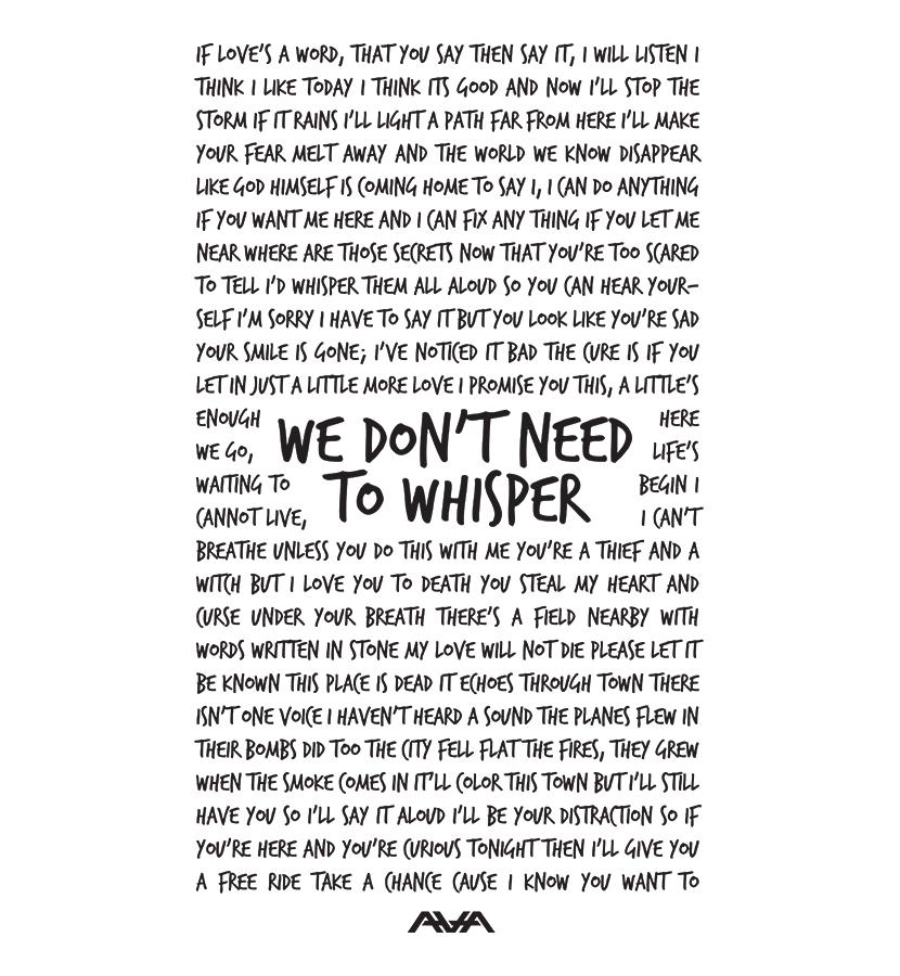 Lyric black lyrics : Whisper Lyrics District T-Shirt Black Ink | Quotes | Pinterest ...