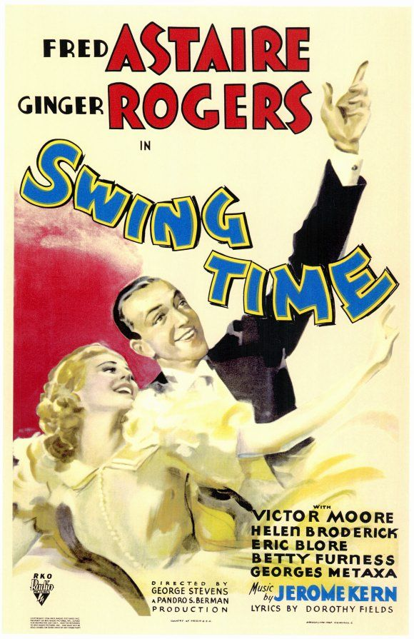 Movie poster for the 1936 film Swing Time starring Fred