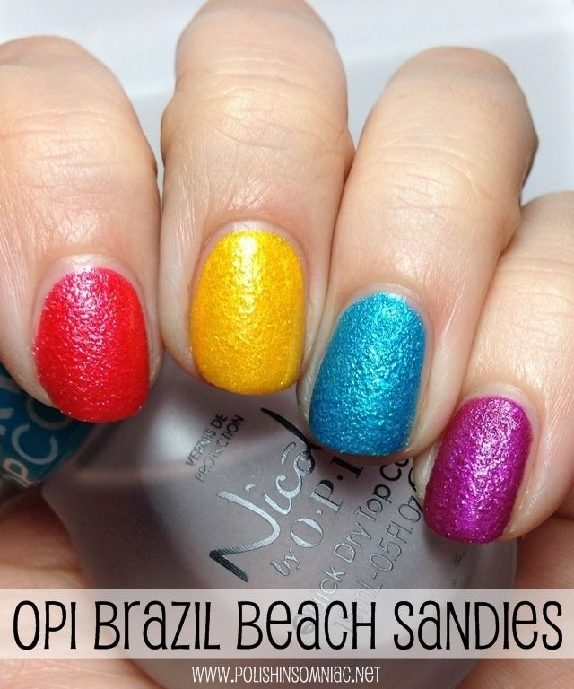 OPI Beach Sandies Mini Laquers from Brazil by OPI (I'm Brazil Nuts Over You, You're So Flippy Floppy, What's a Little Rain Forest? and Samba-dy Loves Purple)