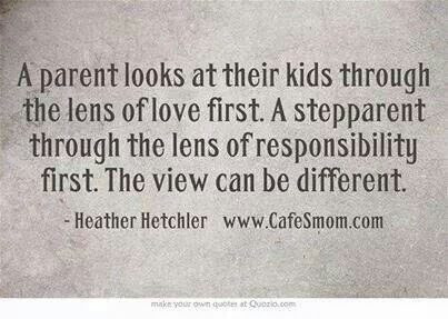 Step Parent Love Quotes Alluring This Is So True.two Separate Views But Still Unconditional