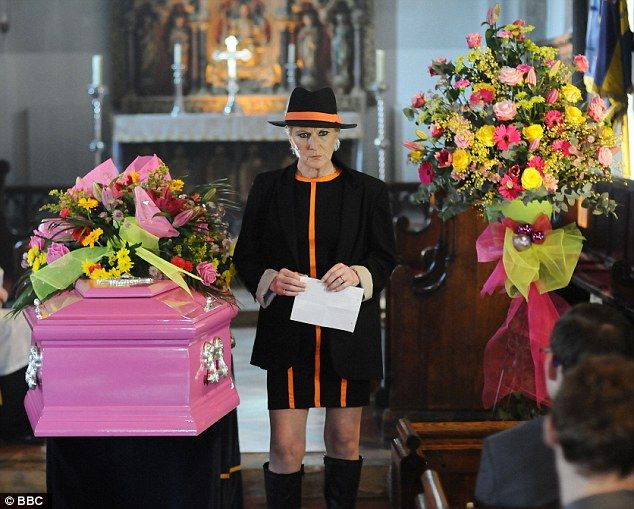 Couldnt decide whether this was art of a funeral funny as its Eastenders and Shirley but either way - it's doing it your own way (Heather style)