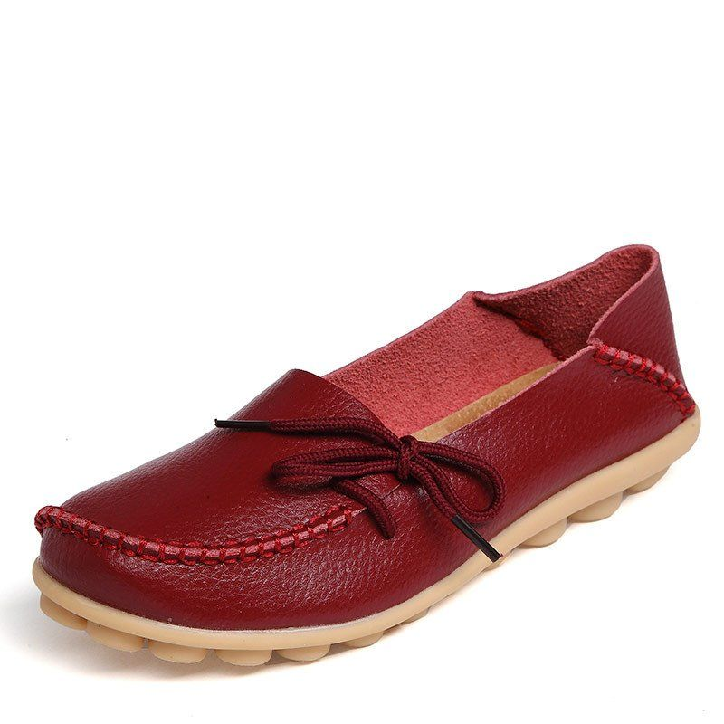 New Women Real Leather Shoes Moccasins Mother Loafers Soft Leisure Flats Female Driving Casual Footwear Size 35-42 In 15 Colors