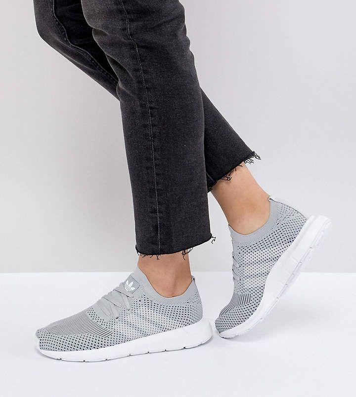 Adidas Originals Swift Run primeknit Mujeres zapatillas gris