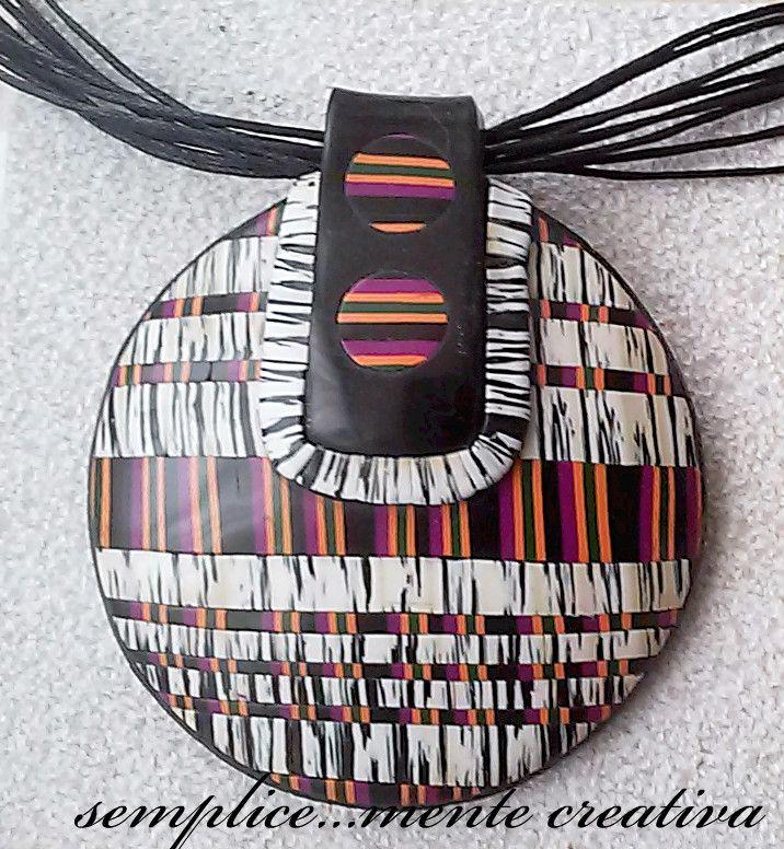 Ciondolo in pasta polimerica - Polymer clay pendant