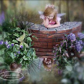 Little girl fairy