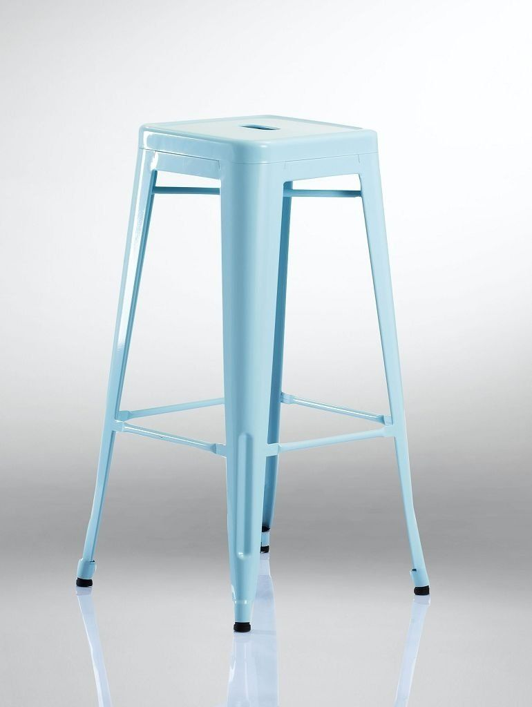 Tabourets Metal Amazon Duhome 585 Tabouret De Bar En Métal Fer Empilable Bleu Amazon