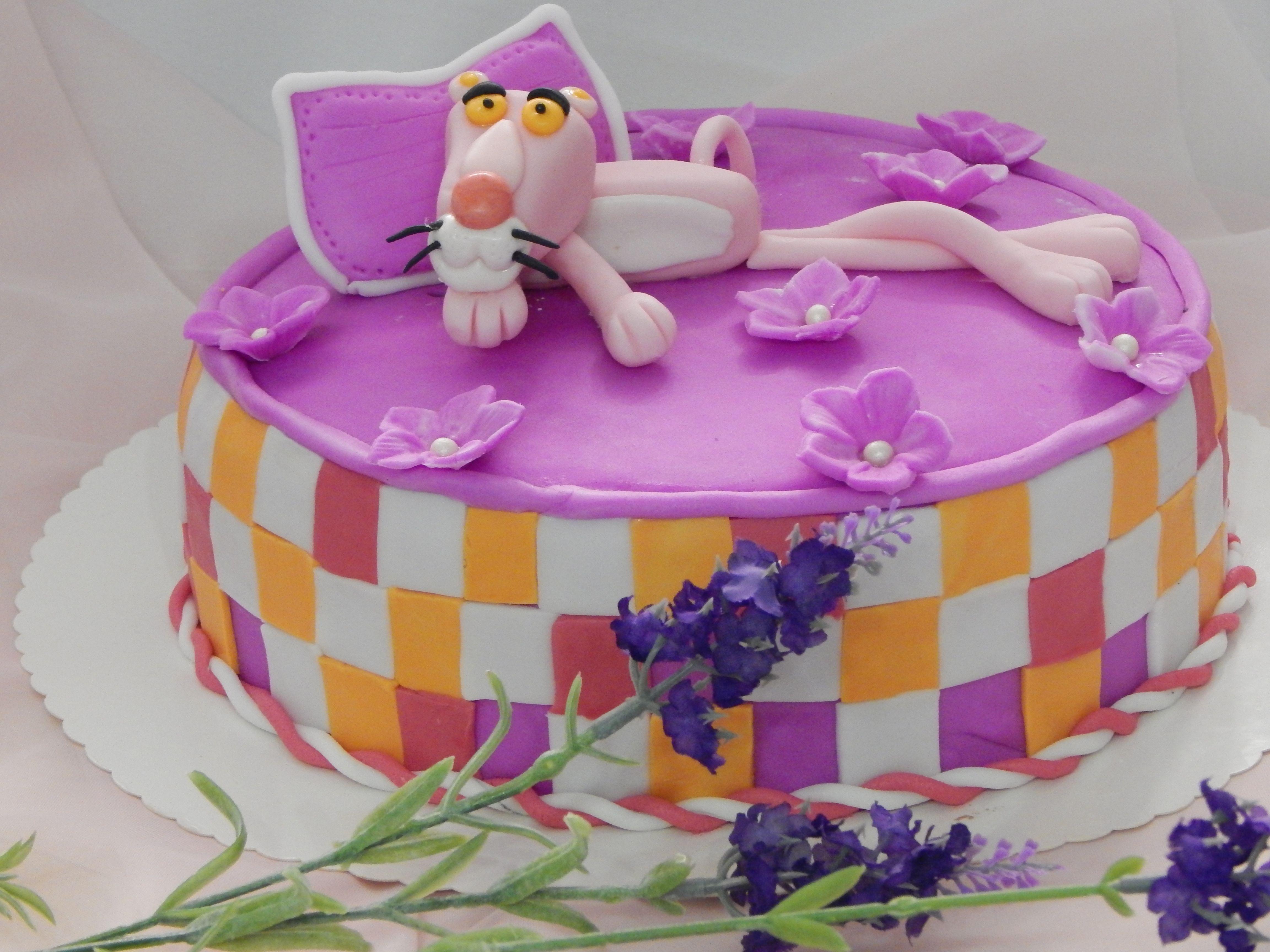 Pink Panther Rosarote Panther Fondant Tutorial Anleitung und Rezept findet ihr auf meiner Seite danis