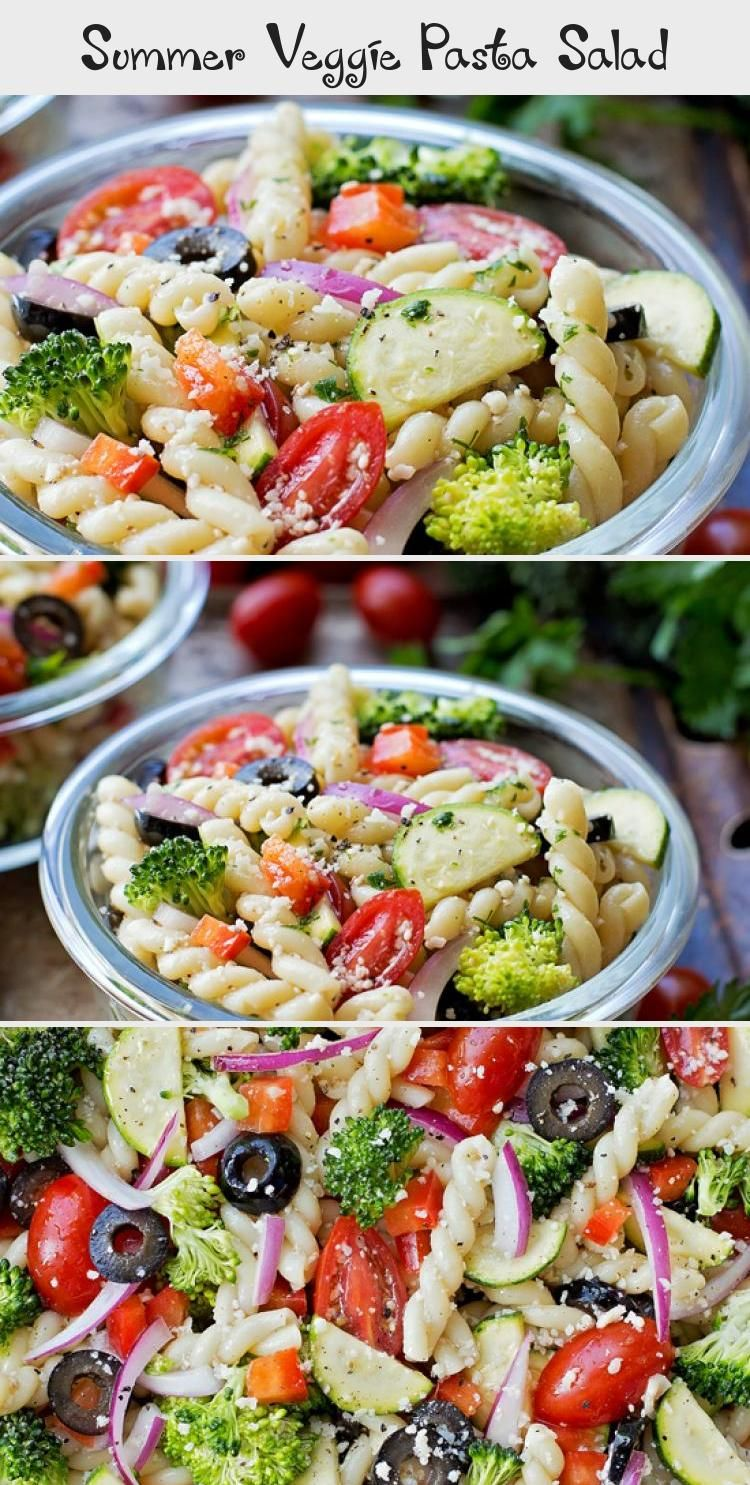 Summer Veggie Pasta Salad - Life Made Simple #Thanksgivingsalad #saladFraicheur #Mexicansalad #saladPates #saladBuah