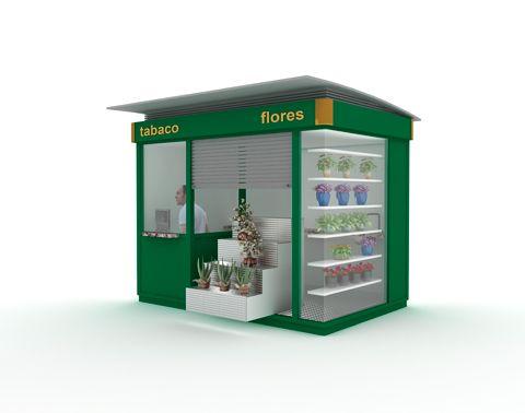 Kiosco tabaco flores kiosko pinterest for Kioscos prefabricados