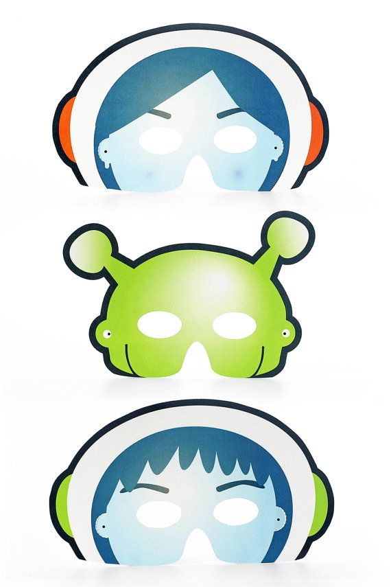 Space Party Printable Party Masks Kit Diy Masks Astronaut