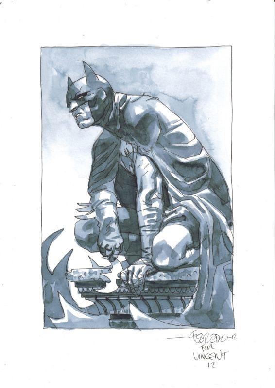 Batman sketch by Duncan Fegredo. #Batman #sketch #DuncanFegredo