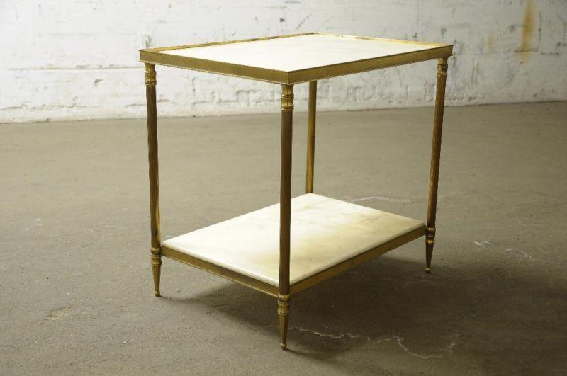 Tisch Nachttisch Beistelltisch Marmor 30er 40er 50er Jugendstil In