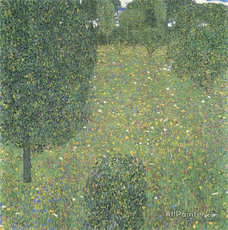 Gustav Klimt Landscape Garden Oil Painting Reproductions Gustav Klimt Art Gustav Klimt Klimt Art