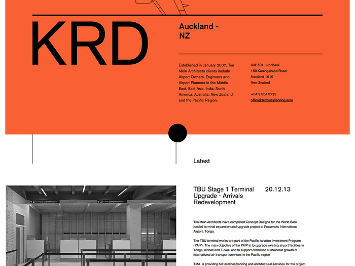 Tim Mein Architects website, using Akzidenz Grotesk  via