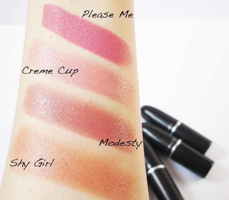 The Beauty Bud: MAC MLBB Lipstick Comparison ~ Swatches