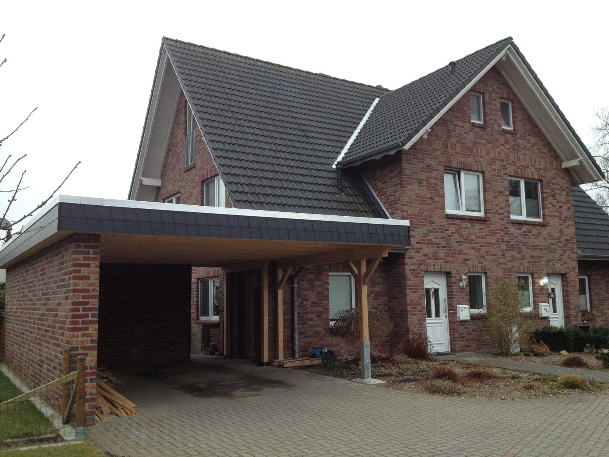 Stadtvilla mit garage und carport  Vorderansicht | Carport | Pinterest | Vorderansicht, Neubau und ...