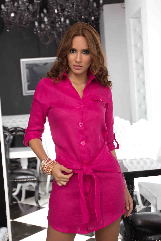 Venta por catalogo | Ref.: 423303 • Vestido en lino puro | www ...