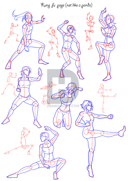 How To Draw Fighting Poses Step By Step Drawing Guide By Neekonoir Drawinghub Drawing Anime Bodies Anime Body Drawing Anime Drawings