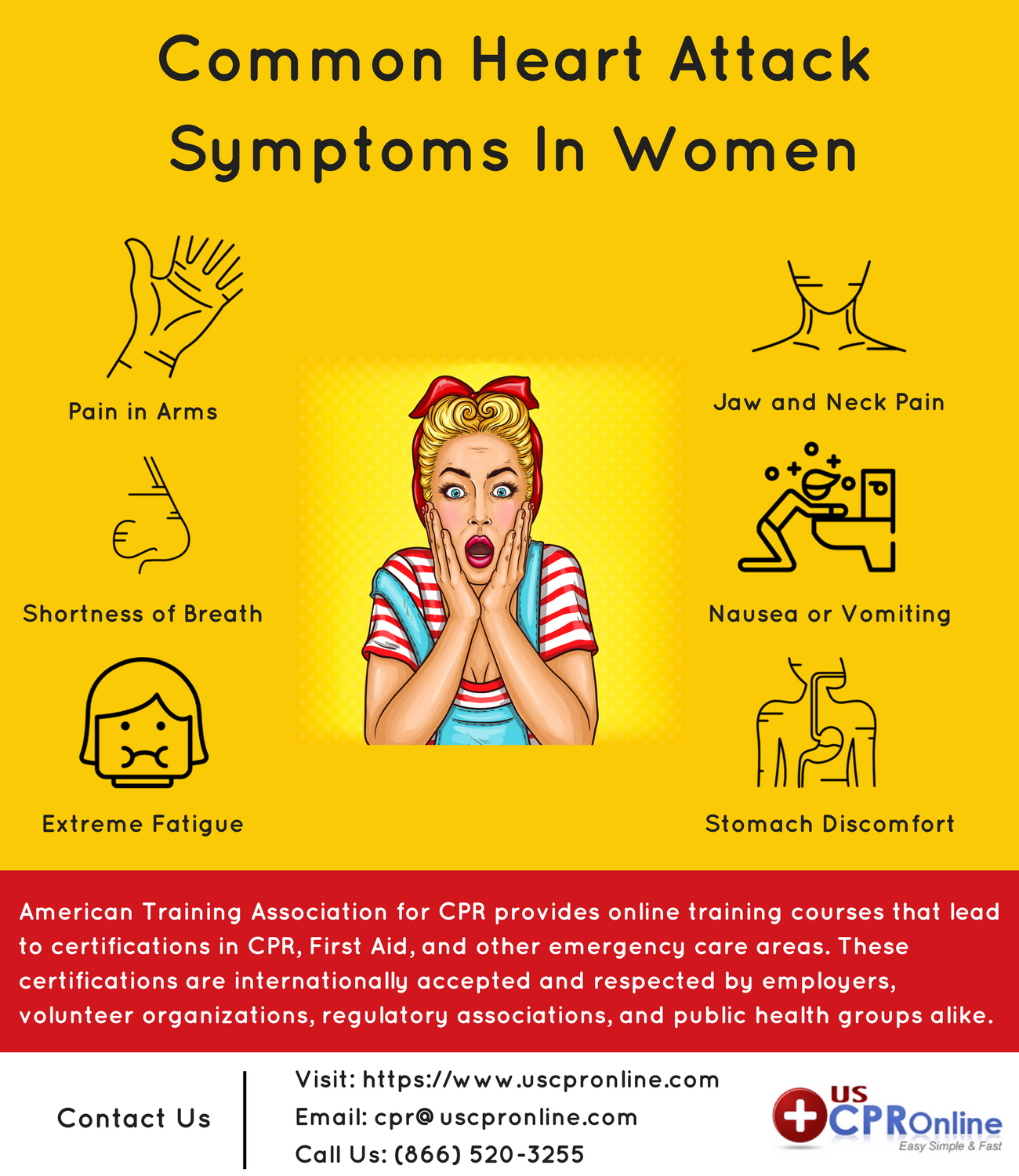 Check Out These Six Common Heart Attack Symptoms Common In Women To