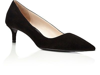 Suede kitten heel pumps Prada