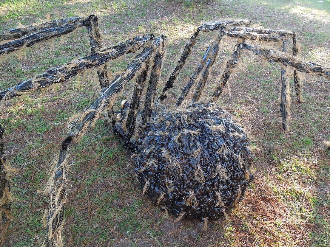 halloween giant gnarly hairy spider