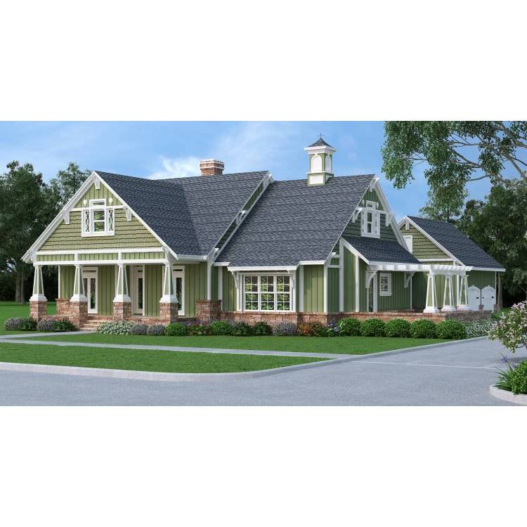 The House Designers THD 9358 Builder Ready Blueprints to Build a Craftsman Farm House Plan with Crawl Space Foundation 5 Printed Sets