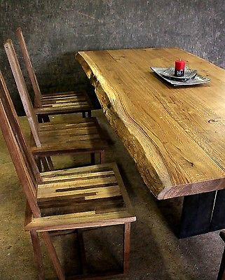 Altholztisch Tisch Altholz, Alte Eiche, Rustikal Massiv  Esstisch,Industriedesign