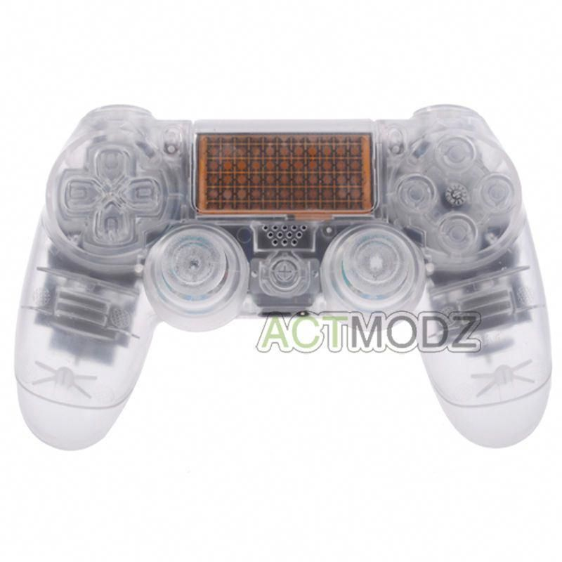Transparent Clear Full Housing For Dualshock Ps4 Controller Shell Unbrandedgeneric Dualshock Ps4 Ps4 Controller