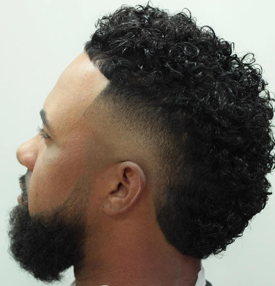 16 mens curly fade fauxhawk cheveux courts homme coupe