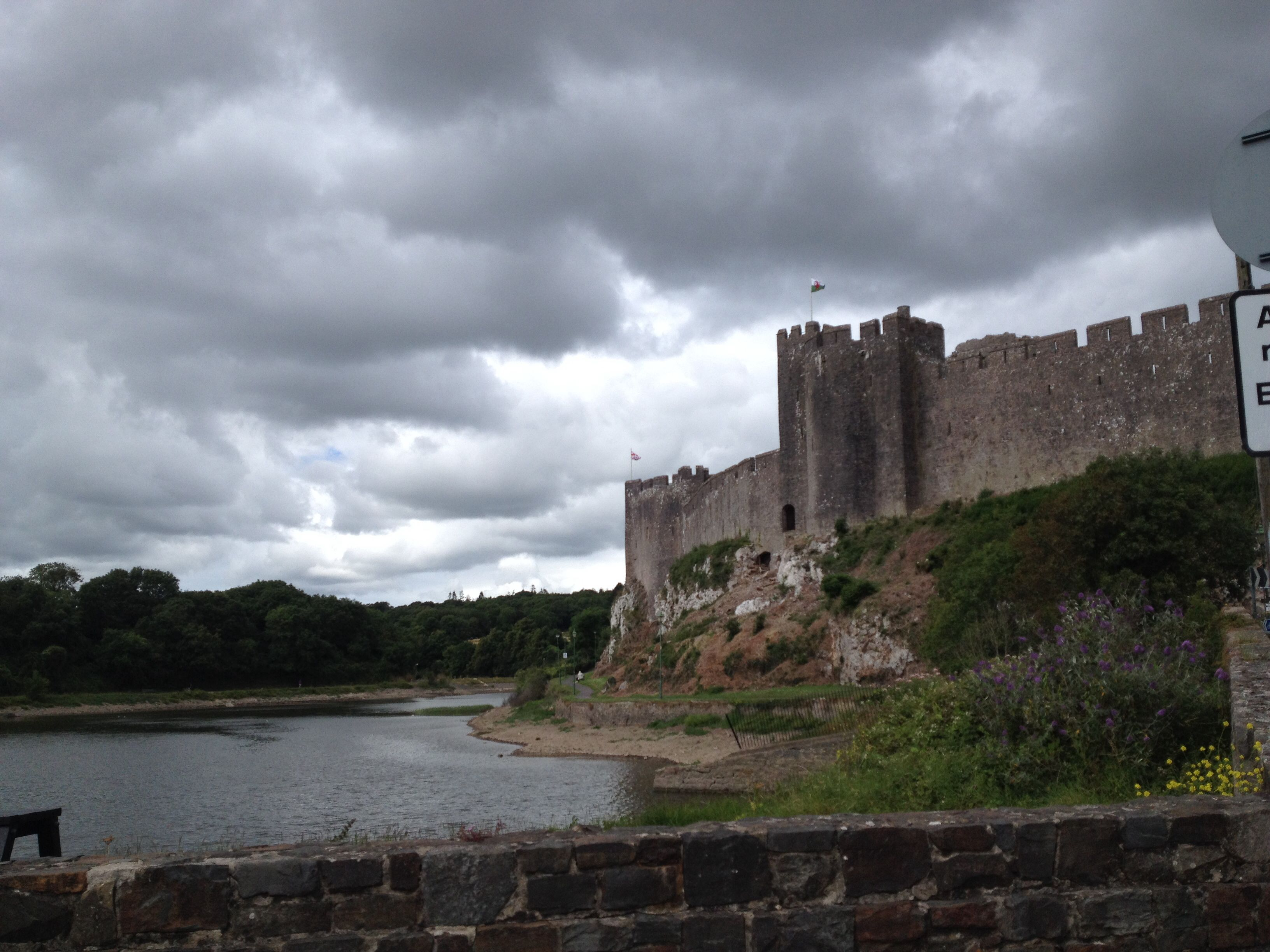 Castle in Pembroke, Wales