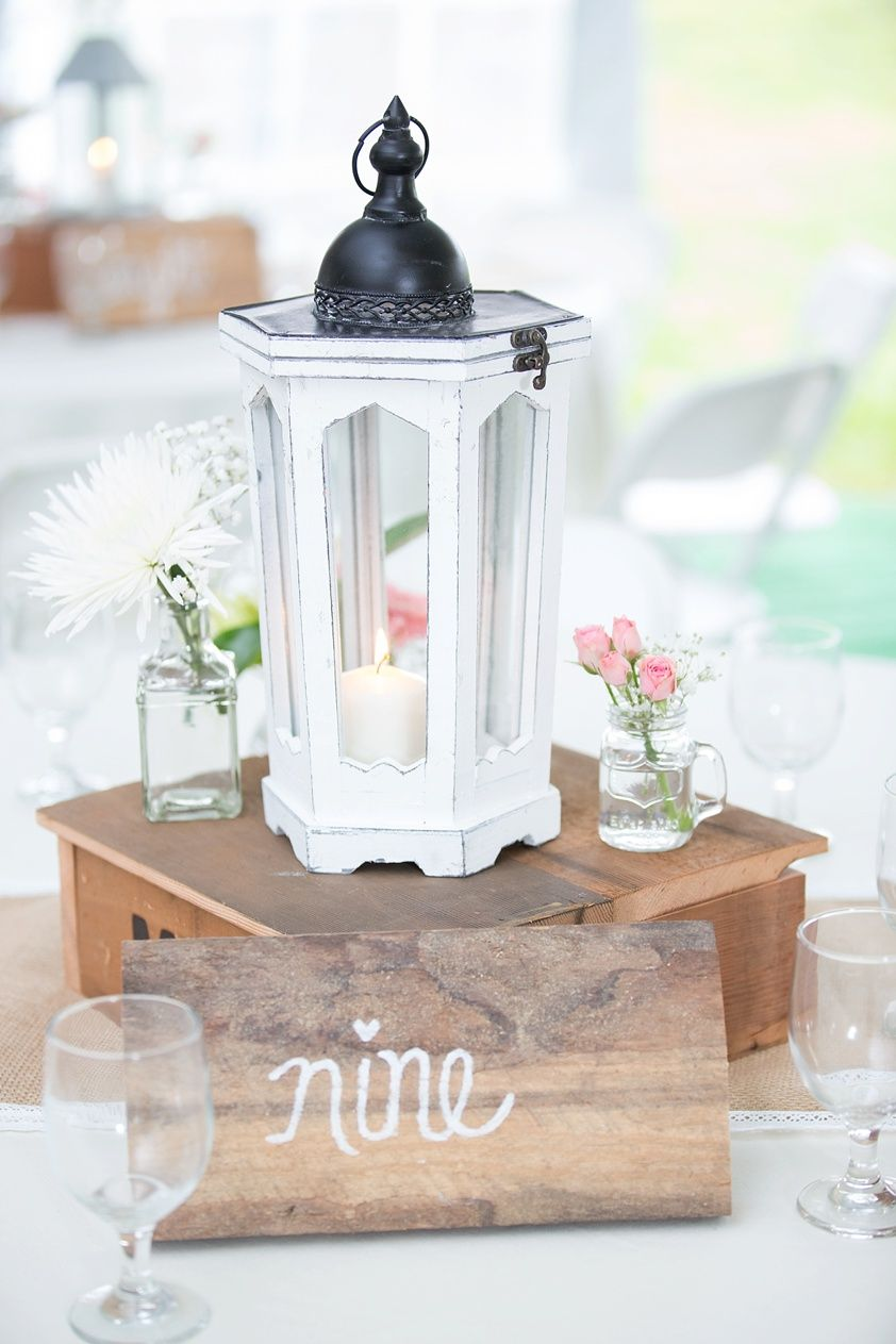 Rustic Lantern Centerpiece and Table Number | ENNY\'s Big Day ...