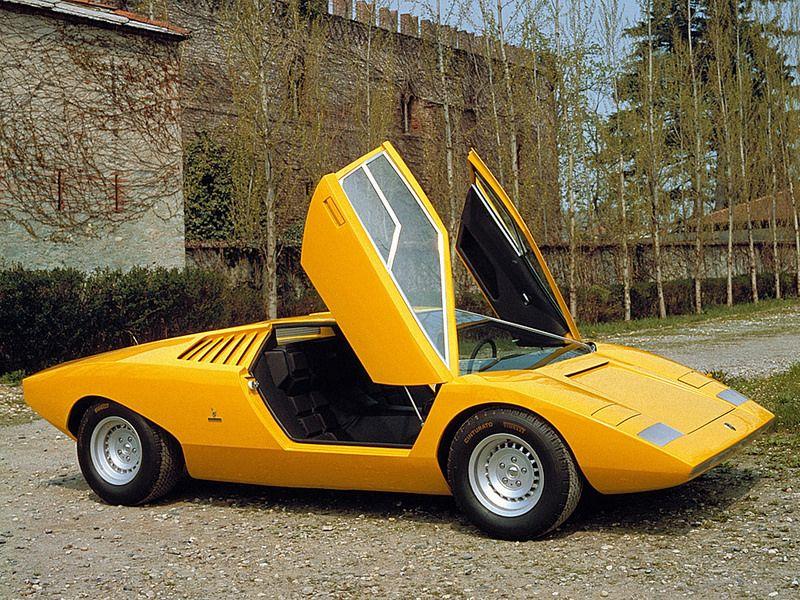 1972 Lamborghini Countach LP400 Prototype design Marcello Gandini (all'epoca in Bertone)