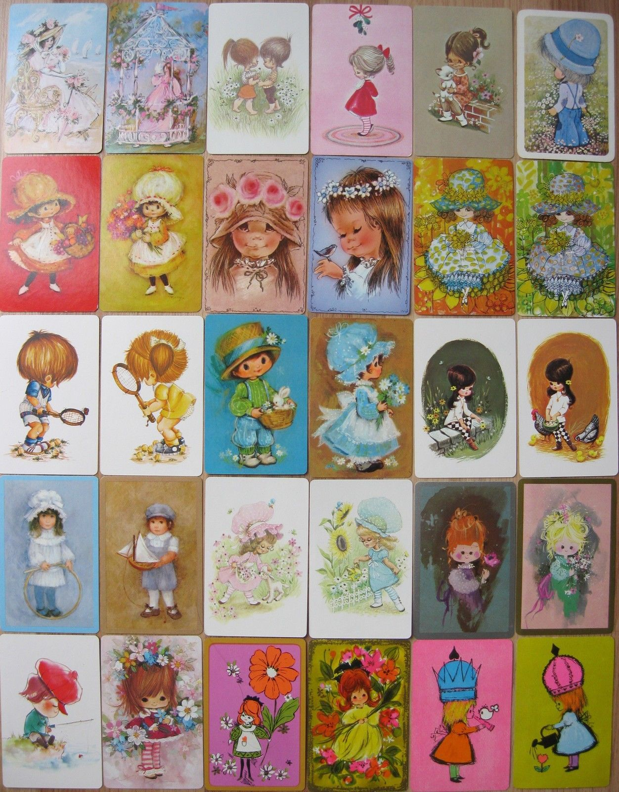 Vintage playing card swap card 1970/'s retro mice mouse