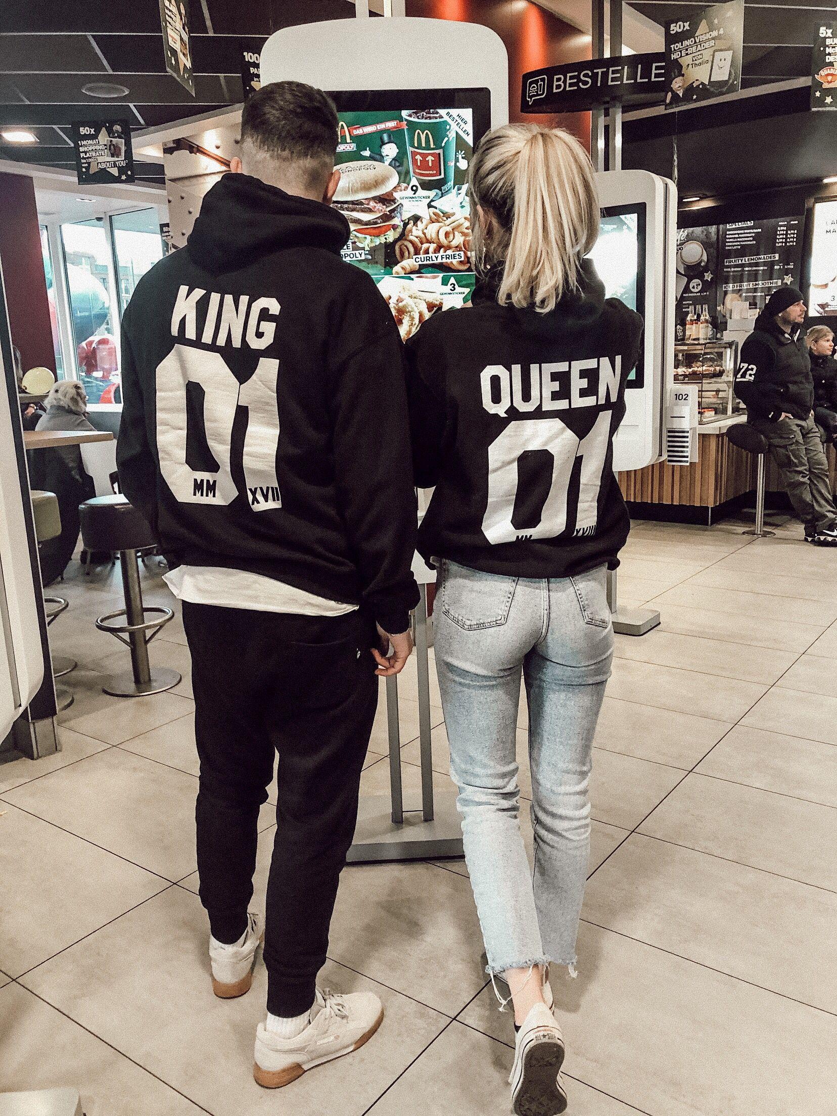 2er Set Hamburger Haenger ® King 01 & Queen 01 Hoodie
