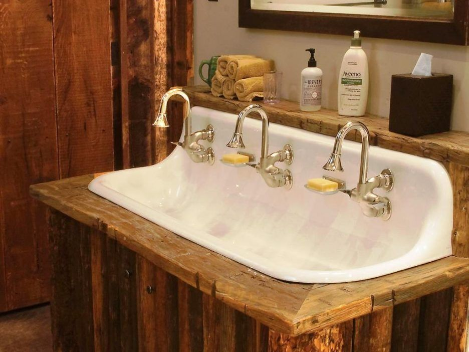 bathroom sink rustic trough style bathroom sinks commercial sink rh pinterest co uk