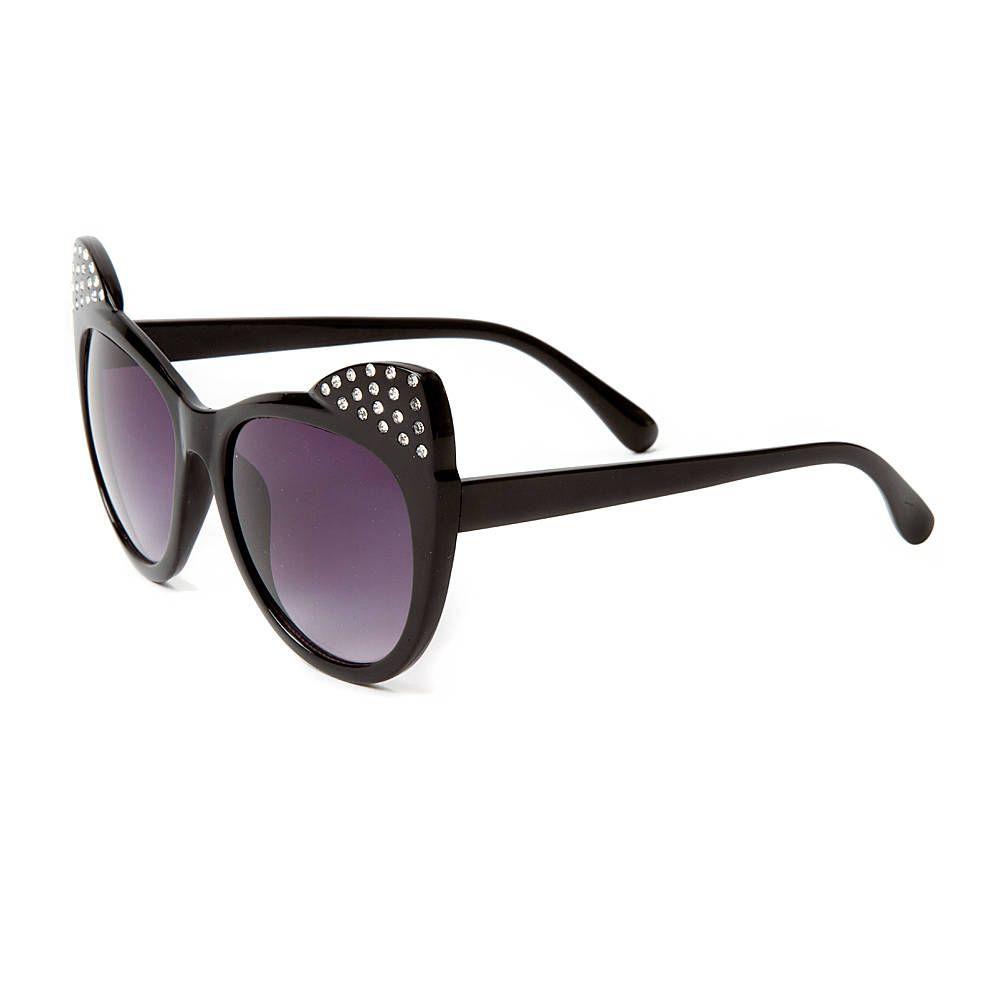 41b1c0cb67e Katy Perry Rhinestone Cat Ears Sunglasses