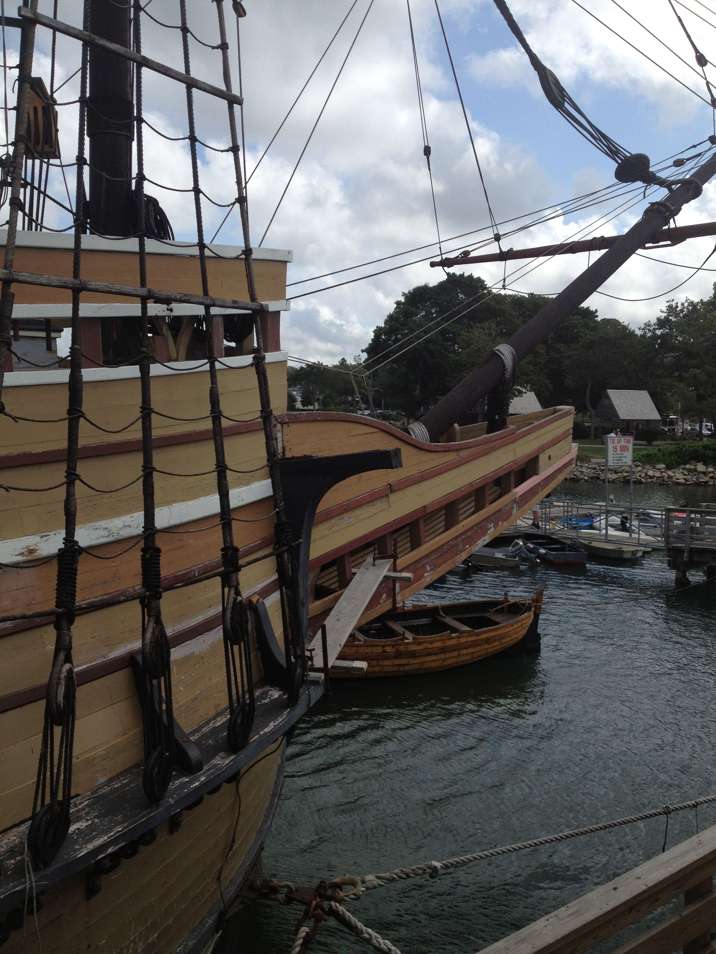 Mayflower II with dinghyHouse of History, LLC. Mystery