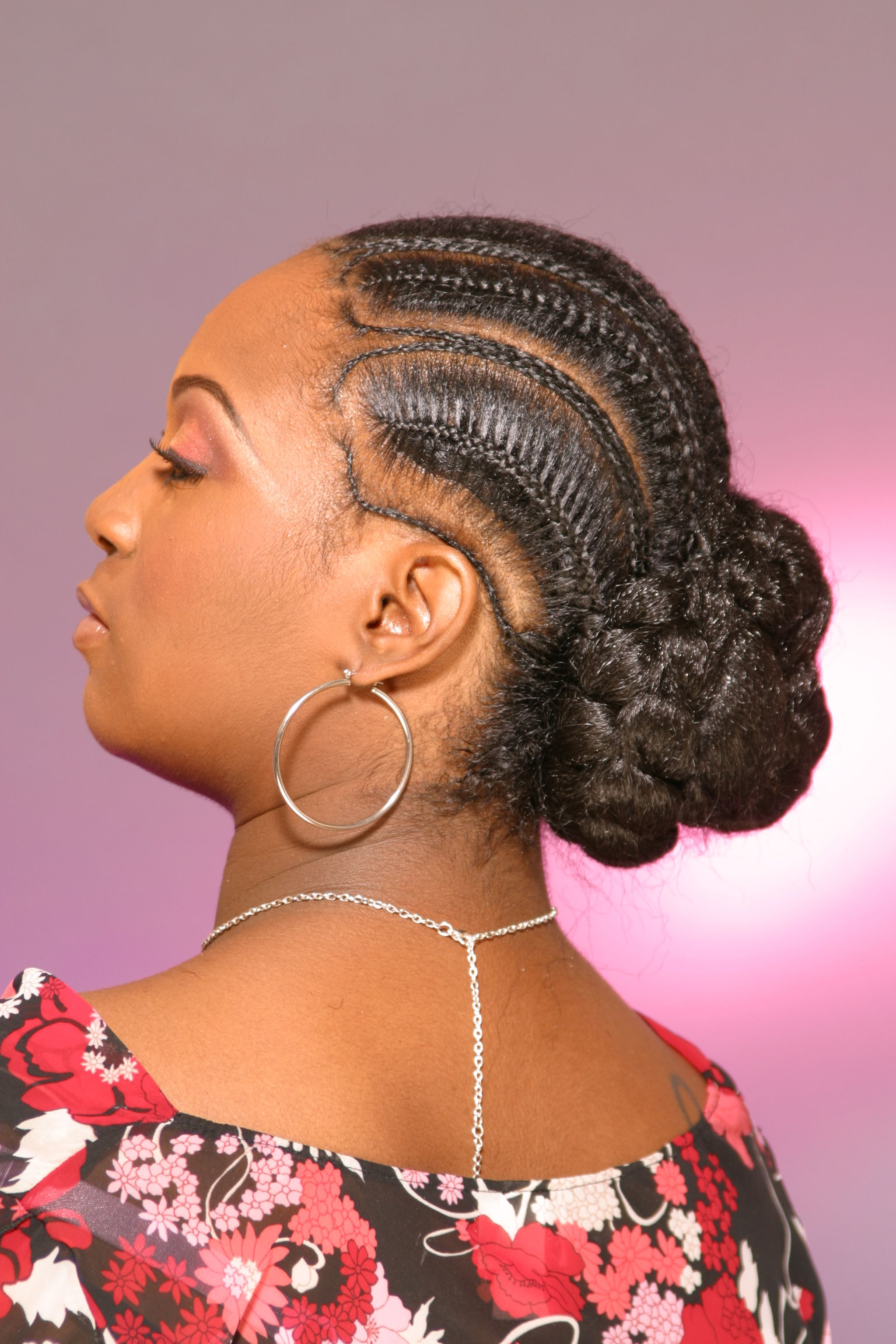 cornrows section african hair