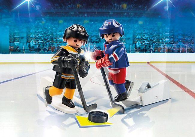 Playmobil Hockey LNH : Série Rivalité d'équipe BS/NY - Castello   Jeux et Jouets