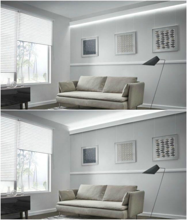 Stuckleisten led indirekte beleuchtung wohnzimmer weiss for Moderne deckenbeleuchtung wohnzimmer